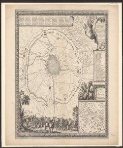 Plan de la ville de Mortare au Duché de Milan assiegée par les Armées du Roy tres Chrétien Louis 14. commandées par le Duc de Modenne ... S. de Beaulieu