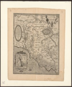 Latium ex conatibus geographicis Abrah. Ortelij