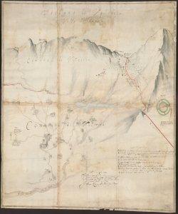 Disegno di Valsecca In Valle di Magna Francesco Querengo agrimensore