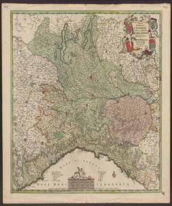Status Reipublicae Genuensis, Status et Ducatus Mediolanensis, Parmensis et Montisferrati Novissima Descriptio per F. De Wit