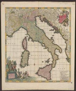 Totius Italiæ tabula per Nicolaum Visscher