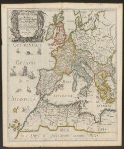 Romani imperii qua occidens est Descriptio geographica N. Sanson Abbavillaeo