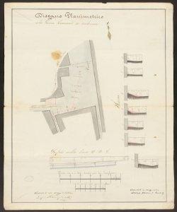 Disegno planimetrico della Piazza Comunale [di Verdello] da tombinarsi / Ing. Rampinelli, Giacomo Lorenzi Perito