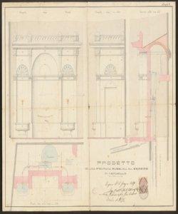 Progetto di una fontana pubblica da erigersi in Verdello / Ing. Archit. Alberto Bettinelli, Sani Giuliano fu Girolamo, Brolis Battista