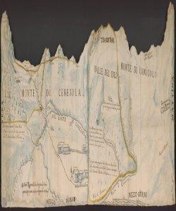 [Controversia sui confini tra i Comuni di Valtorta, Barsio e Baiedo di Valsasina] Gio. Batta. Regazzoni Publico disegnatore