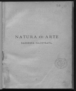 Natura ed arte rivista illustrata quindicinale italiana e straniera di scienze, lettere ed arti
