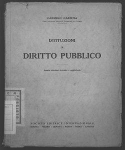 Corso di istituzioni di diritto pubblico Carmelo Caristia