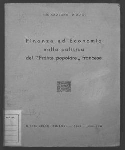 Finanze ed economia nella politica del Fronte popolare francese Giovanni Diglio