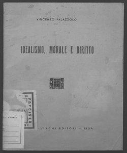 Idealismo, morale e diritto Vincenzo Palazzolo