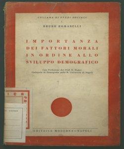 Importanza dei fattori morali in Ordine allo sviluppo demografico Con prefazione di Lanfranco Maroi