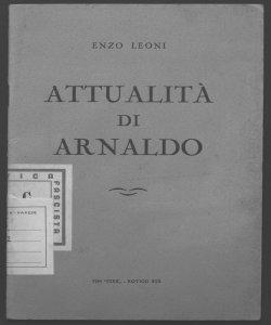Attualità di Arnaldo Enzo Leoni