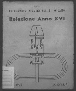 Il dopolavoro provinciale di Milano relazione anno 16