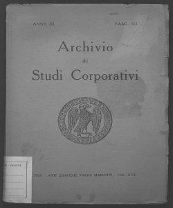 Archivio di studi corporativi