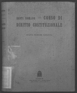 Corso di diritto costituzionale Santi Romano