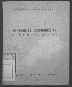Esperienze commerciali e corporative Antonino Arena-Alessi