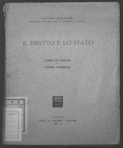 Il diritto e lo stato corso di lezioni di teoria generale Giacomo Perticone