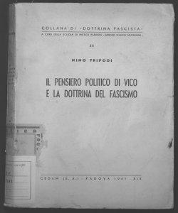 Il pensiero politico di Vico e la dottrina del fascismo Nino Tripodi