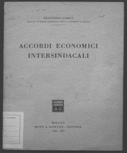 Accordi economici intersindacali Francesco Loriga