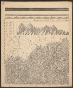 2: Elevazione sopra il livello del mare dei principali monti situati alla loro longitudine e latitudine in metri; Confine tra Lombardia e Veneto con Svizzera ed Impero Austro Ungarico ; -