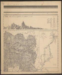 3: Elevazione sopra il livello del mare dei principali monti situati alla loro longitudine e latitudine in metri; Confine tra Veneto e Friuli con Impero Austro Ungarico; Carta illustrante il viaggio da Vienna a Trieste ; -