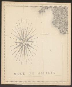 19: Rosa dei venti e costa della Campania. -
