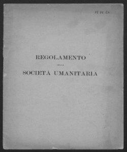 Regolamento della Società Umanitaria