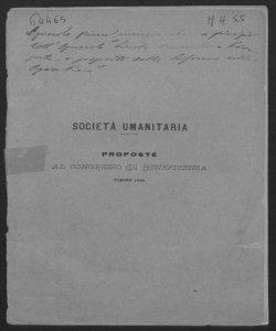 Proposte al congresso di beneficenza, Torino 1884 / [Prospero Moisè Loria]
