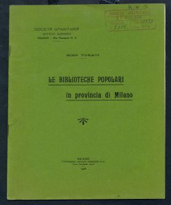 Le Biblioteche popolari in provincia di Milano / Nino Turati