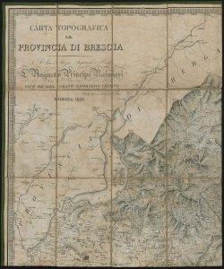 Carta topografica della Provincia di Brescia [Parte I - Verso]