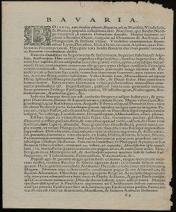Bavaria: Olim vindeliciae delineationis compendium ex tabula Philippi Apiani math[ematicus] [Descrizione]