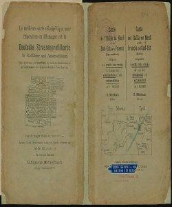 Deutsche Strassenprofilkarte: fur Radfahrer und Automobilisten. Carta dell'Italia del Nord e Francia del Sud Est [Retro]