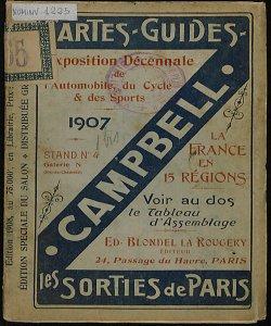 Cartes Guides Campbell. Les sorties de Paris [Copertina, fronte]