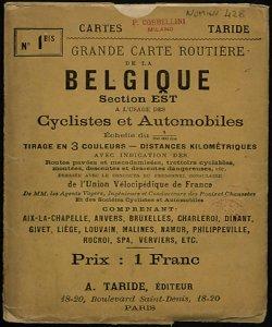 Grande Carte routiere de la Belgique (Section Est): a l'usage des cyclistes et automobiles [Copertina, fronte]