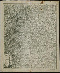 Carta topografica dei contorni di Torino: Pel circuito di trenta e più miglia che comprende la maggior parte del Piemonte [Retro]