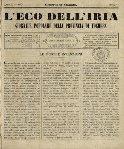 L'eco dell'Iria : giornale popolare della Provincia di Voghera