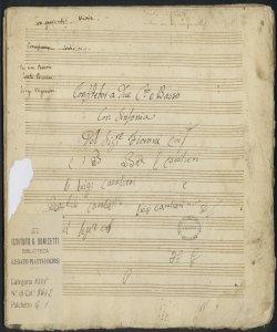 Confitebor a due C.to e Basso | Con Sinfonia | Del Sig:re Fioroni