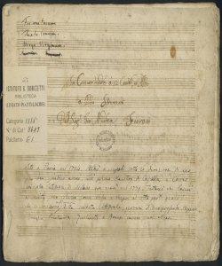 In Convertendo a 2 Canto ed Alto | a Più Stromenti | Del Sig: Gio: Andrea Fioroni