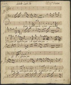 Motetto Canto Solo | Del Sig:re Fioroni