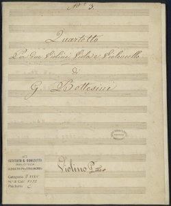 Quartetto Per due Violini Viola e Violoncello N.3 / di G. Bottesini