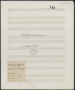 A Silvia in campagna / dell'Abate Frugoni ; Musica d'Alfredo Piatti