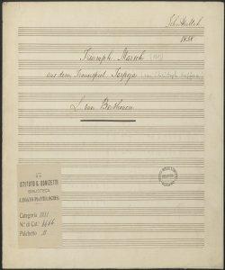 Triumph Marsch aus dem Trauerspiel Tarpeja / L. van Beethoven