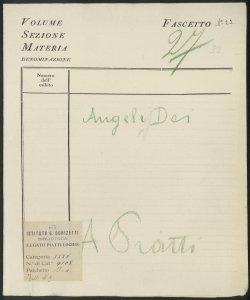 L'Angele Dei Invocazione all'Angelo custode : [per 4 Voci e organo] / Musica d'Alfredo Piatti ; Parole di Samuele Biava