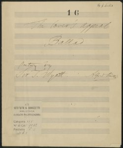 The lover's appeal Ballad / Alfred Piatti ; Poetry by Sir T. Wyatt