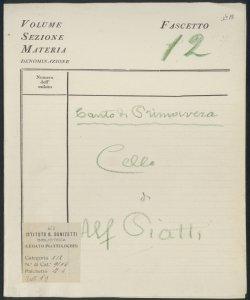 Canto di Primavera : [per violoncello e pianoforte] / A. Piatti