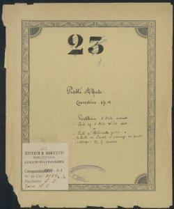 Concertino per il Violoncello con Accompagnamento d'Orchestra (o di Piano-Forte) Op:18 composto [...] / da Alfredo Piatti