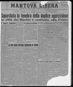 Mantova Libera : organo del Comitato di liberazione nazionale