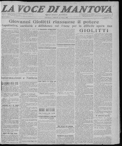 La voce di Mantova : quotidiano politico