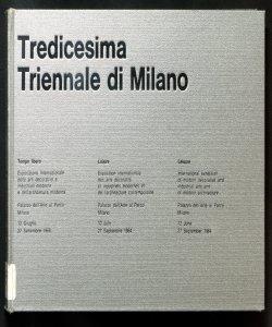 Tredicesima Triennale di Milano : tempo libero