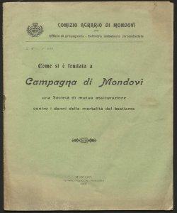 Come si è fondata a Campagna di Mondovì una società di mutua assicurazione contro i danni della mortalità del bestiame : (Comizio agrario di Mondovì) / [A. Gioda!