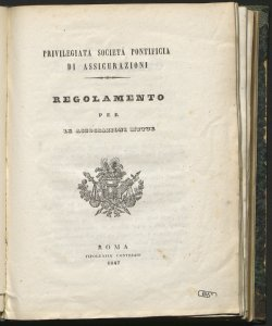 Regolamento per le associazioni mutue / Privilegiata Societa Pontificia di Assicurazioni